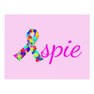 Pink Aspie Postcard