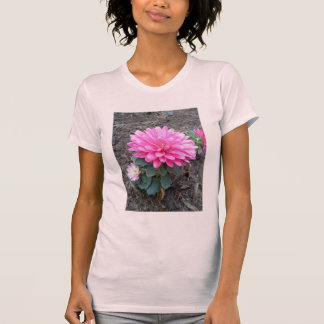 Pink Aster Flowers T-Shirt