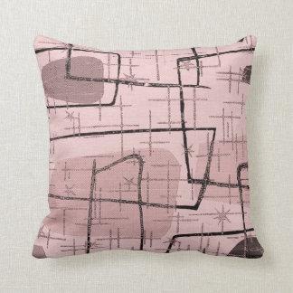 Pink Atomic Starburst Mid Century Pillow