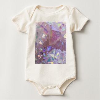 Pink Aura Crystals Baby Bodysuit