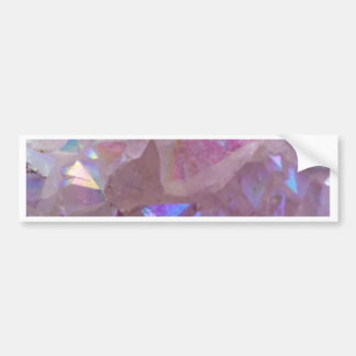 Pink Aura Crystals Bumper Sticker