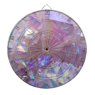 Pink Aura Crystals Dart Board