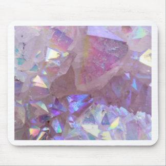 Pink Aura Crystals Mouse Pad