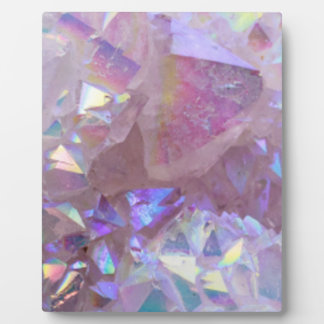 Pink Aura Crystals Plaque