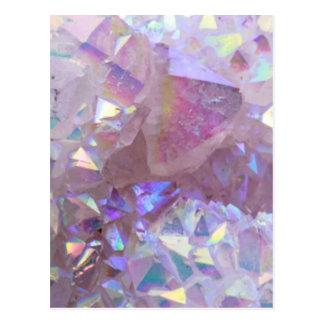 Pink Aura Crystals Postcard