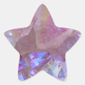 Pink Aura Crystals Star Sticker