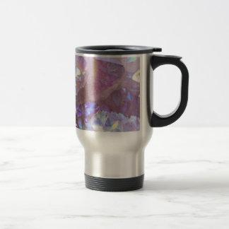 Pink Aura Crystals Travel Mug