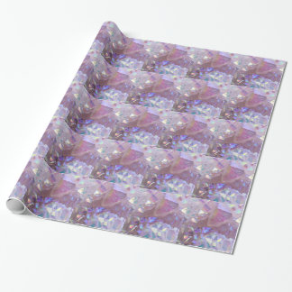 Pink Aura Crystals Wrapping Paper