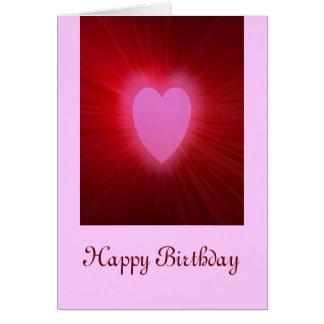Pink Aura, Happy Birthday Card