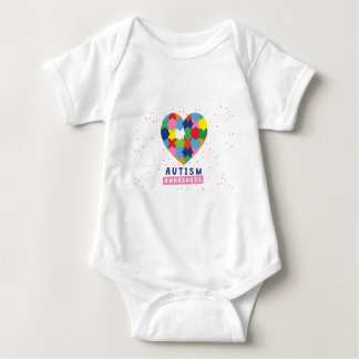 pink autism awareness baby bodysuit