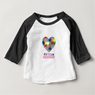 pink autism awareness baby T-Shirt