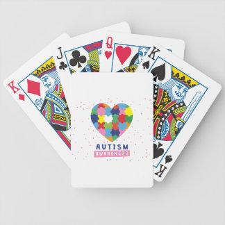 pink autism awareness bicycle playing cards