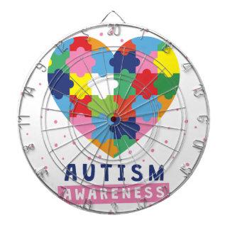 pink autism awareness dartboard