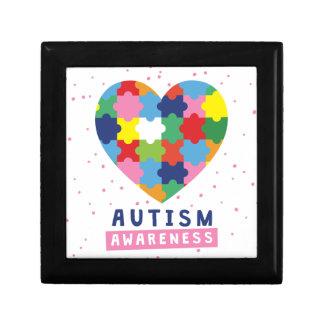 pink autism awareness gift box