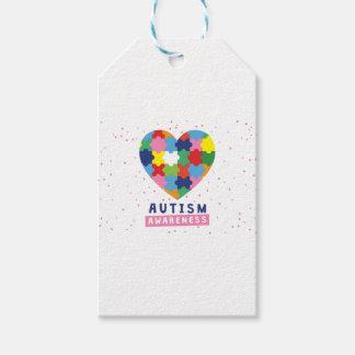 pink autism awareness gift tags