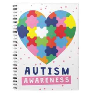pink autism awareness notebooks