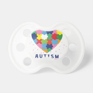 pink autism awareness pacifier
