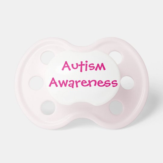 Pink Autism Awareness Pacifier 6+mths