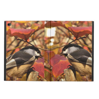 Pink Autumn Foliage with Chickadee Birds Powis iPad Air 2 Case