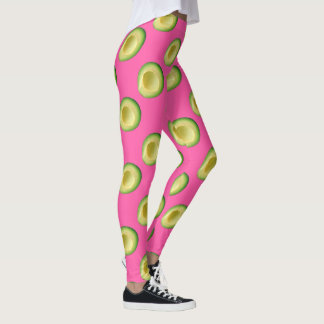 Pink Avocado Frenzy Leggings