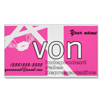 Pink Avon Personalized Magnetic Business Card