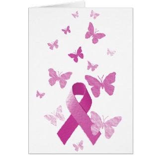 Pink Awareness Ribbon Card
