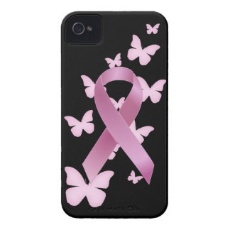 Pink Awareness Ribbon iPhone 4 Case