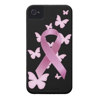 Pink Awareness Ribbon iPhone 4 Case