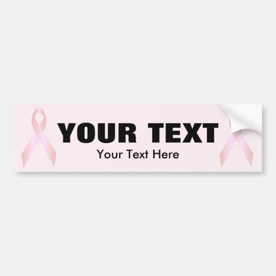 Pink Awareness Ribbon Template Bumper Sticker 3