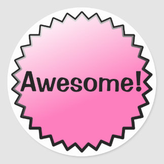 Pink Awesome Award Stickers