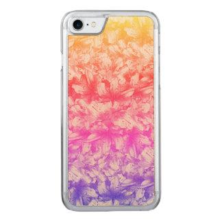 Pink Azalea Flowers Rainbow Carved iPhone 8/7 Case