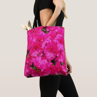 Pink Azalea Flowers Tote Bag