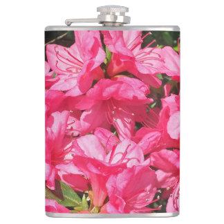 Pink Azalea Hip Flask