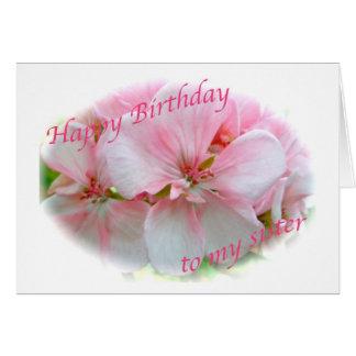 Pink Azalea Sister Birthday Card