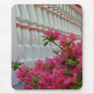 Pink Azaleas by Cottage Porch, Martha's Vineyard Mouse Pad