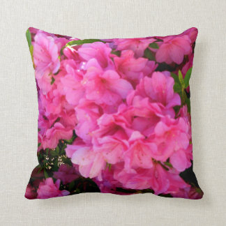 Pink Azaleas of a Southern Spring Accent Pillow