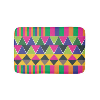 pink Aztec multicolour print Bathroom Mat
