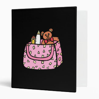 pink baby bag vinyl binder