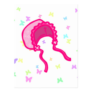 Pink Baby Bonnet Post Card