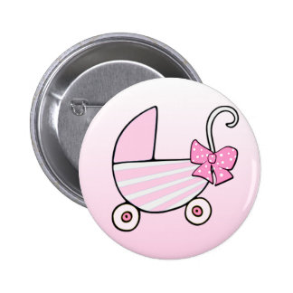 Pink Baby Buggy 2 Inch Round Button
