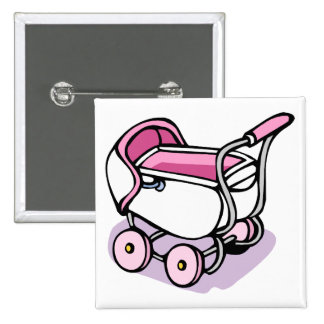 pink baby buggy buttons
