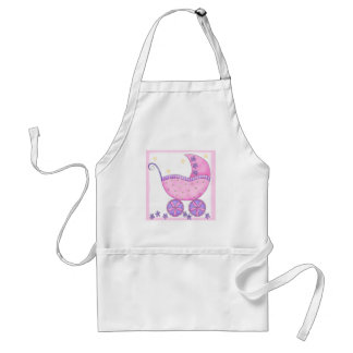 Pink Baby Buggy Carriage Baby Customized Apron