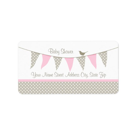 Pink Baby Bunting Label