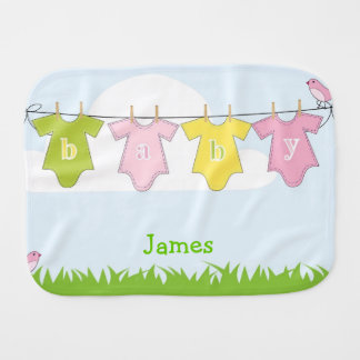 Pink Baby Burp Cloth