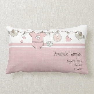 Pink Baby Clothes | Throw Pillow
