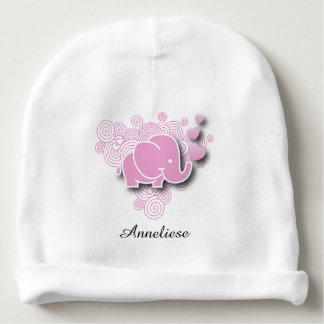 Pink Baby Elephant | DIY Name Baby Beanie