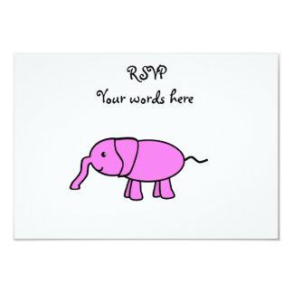"Pink baby elephant 3.5"" x 5"" invitation card"