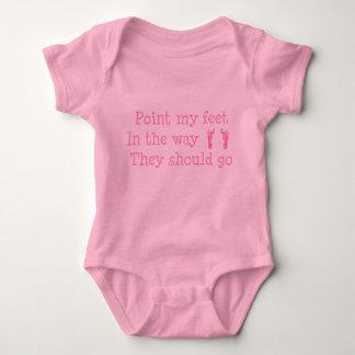 Pink Baby Feet Creeper