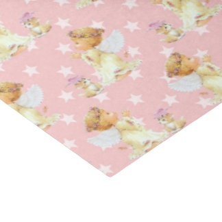Pink baby girl Angel pattern tissue paper