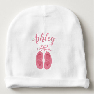 Pink Baby Girl Ballerina Ballet Toe Shoes Dancer Baby Beanie